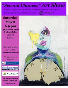 Flyer for 2015 Teen Court Second Chances Art Show